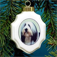 chrisorbearc Christmas Ornament: Bearded Collie
