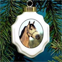 Buckskin Horse Christmas Ornament