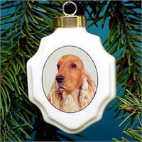 chrisorcocsp1 Cocker Spaniel Christmas Ornament