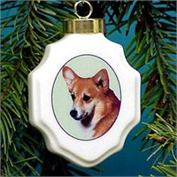 chrisorcor Christmas Ornament: Corgi