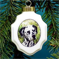 Dalmatian Christmas Ornament Porcelain