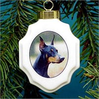 chrisordobpi Christmas Ornament: Doberman Pinscher