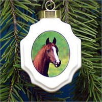 Brown Horse Christmas Ornament