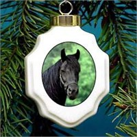 Black Horse Christmas Ornament