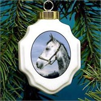Gray Horse Christmas Ornament