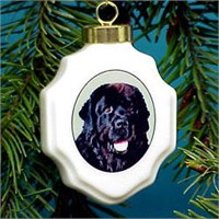 Newfoundland Christmas Ornament Porcelain