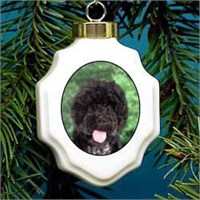 Portuguese Water Dog Christmas Ornament Porcelain