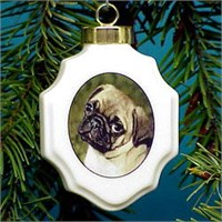 chrisorpug Christmas Ornament: Pug