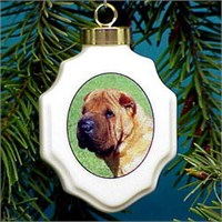 Shar Pei Christmas Ornament