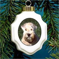 Wheaten Terrier Christmas Ornament Porcelain