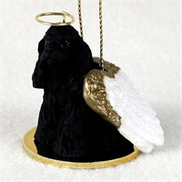 Cocker Spaniel Angel Ornament Black