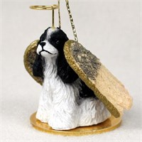 Cocker Spaniel Angel Ornament Black-White