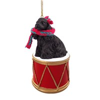Cocker Spaniel Black Little Drummer Christmas Ornament