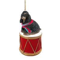 Cocker Spaniel Black-Tan Little Drummer Christmas Ornament