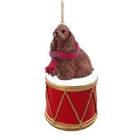 Cocker Spaniel Brown Little Drummer Christmas Ornament