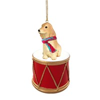 English Cocker Spaniel Little Drummer Christmas Ornament