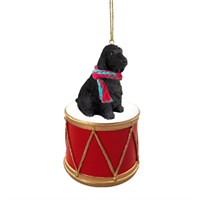 English Cocker Spaniel Black Little Drummer Christmas Ornament