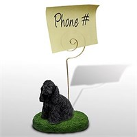 Cocker Spaniel Note Holder (Black)