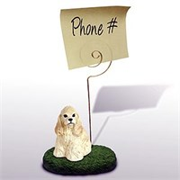 Cocker Spaniel Note Holder (Blonde)