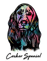 Cocker Spaniel T Shirt Colorful Abstract