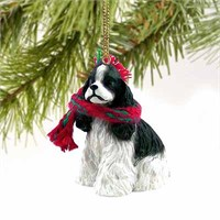 Cocker Spaniel Tiny One Christmas Ornament Black and White