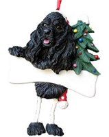 Cocker Spaniel Ornament (Black)