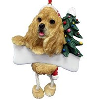 Cocker Spaniel Ornament (Blonde)