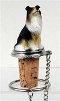 Collie Bottle Stopper (Tricolor)