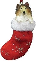 Collie Christmas Stocking Ornament