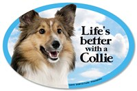 Collie Car Magnet - Life's Better