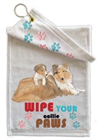Collie Paw Wipe Towel