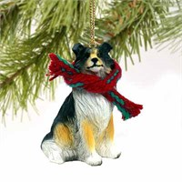 Collie Tiny One Christmas Ornament Tricolor