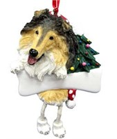 Collie Christmas Tree Ornament Personalized