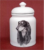 Saluki Cookie Jar