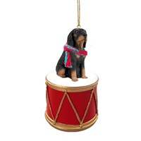 Coonhound Little Drummer Christmas Ornament