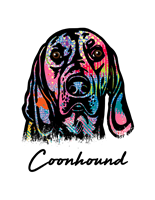 Coonhound T Shirt Colorful Abstract