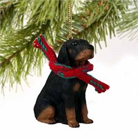 Coonhound Tiny One Christmas Ornament Black-Tan