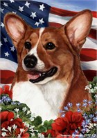Corgi House Flag Tan and White