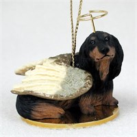 Dachshund Angel Ornament Longhaired Black