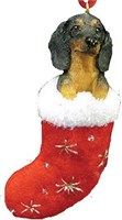 Dachshund Christmas Ornament Stocking