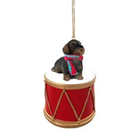 Wire Haired Dachshund Little Drummer Christmas Ornament