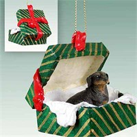 Dachshund Christmas Ornament Gift Box