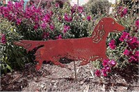 Dachshund Long Haired Garden Stake