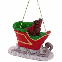 Dachshund Christmas Ornament Sleigh Ride