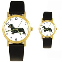 Dachshund Watch Black