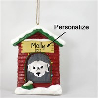 Dalmatian Personalized Dog House Christmas Ornament