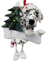 Dalmatian Christmas Tree Ornament Personalized