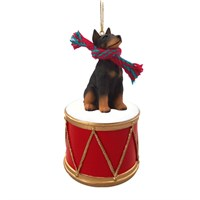 Doberman Pinscher Little Drummer Christmas Ornament
