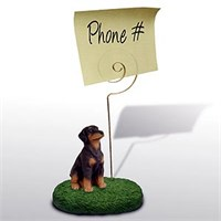 Doberman Pinscher Note Holder (Red Uncropped)