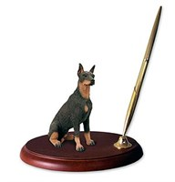 Doberman Pinscher Pen Holder (Red)